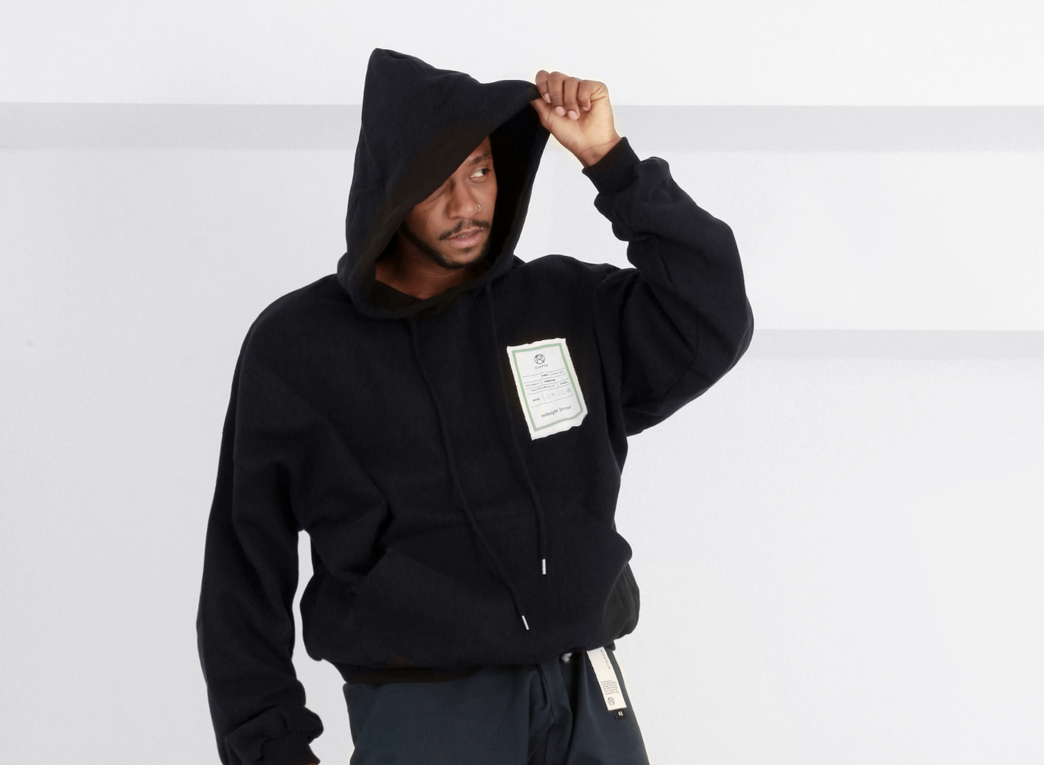 NVAPOR Midnight Applique Hoodie